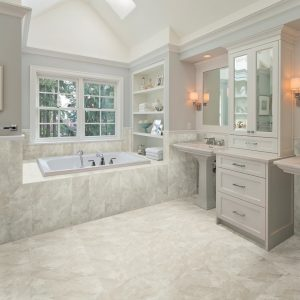 American Olean Flooring Tile In Bathroom